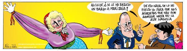 Mari Jaia también tiene que ahorrar en la Aste Nagusia de Bilbao