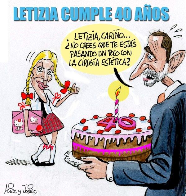La princesa Leticia celebra su 40 cumpleaños en El Jueves