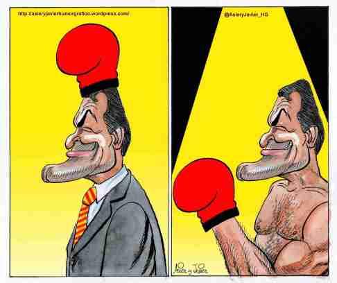 Artur Mas insiste en la consulta por la independencia de Cataluña. Humor gráfico.