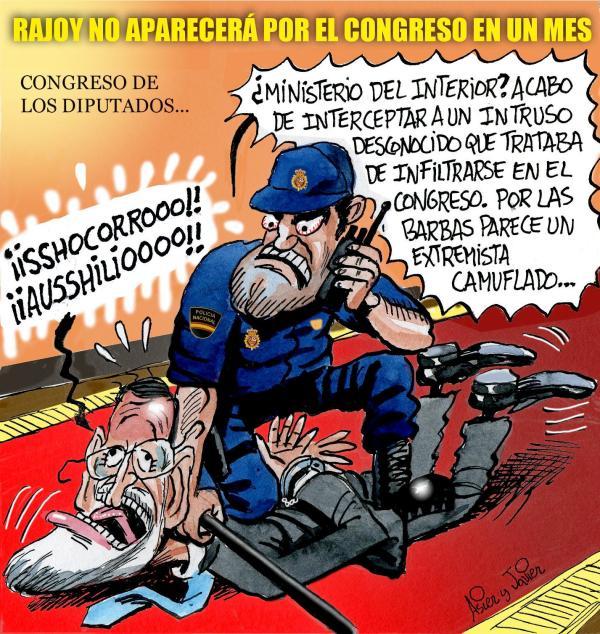 En El Jueves de esta semana: Rajoy no pisará el Congreso en un mes...y luego pasa lo que pasa