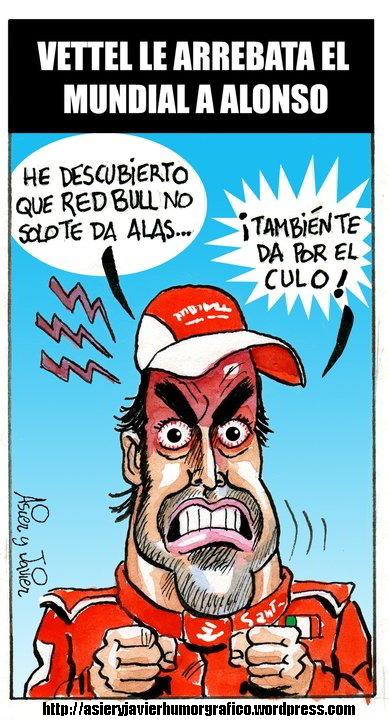 Vettel pudo con Alonso