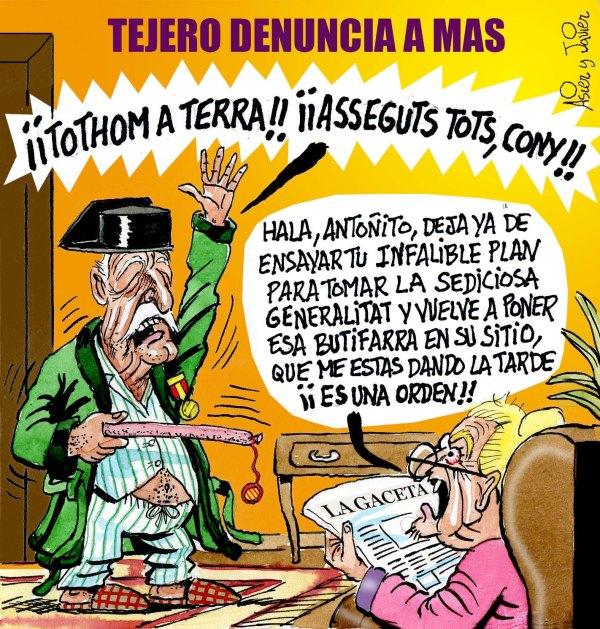 En El Jueves: Tejero denunció a Artur Mas