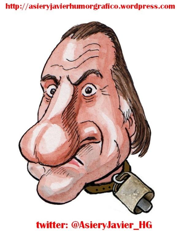 Depardieu Putin Hollande Impuestos Francia Rusia Caricatura
