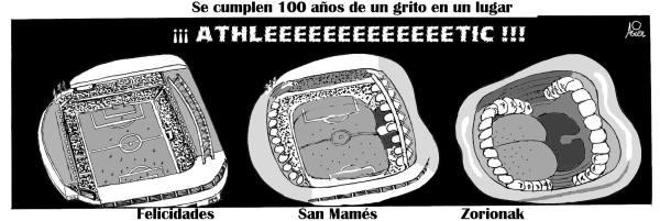 San Mamés, Athletic, Bilbao, Siglo, Fútbol, Grito