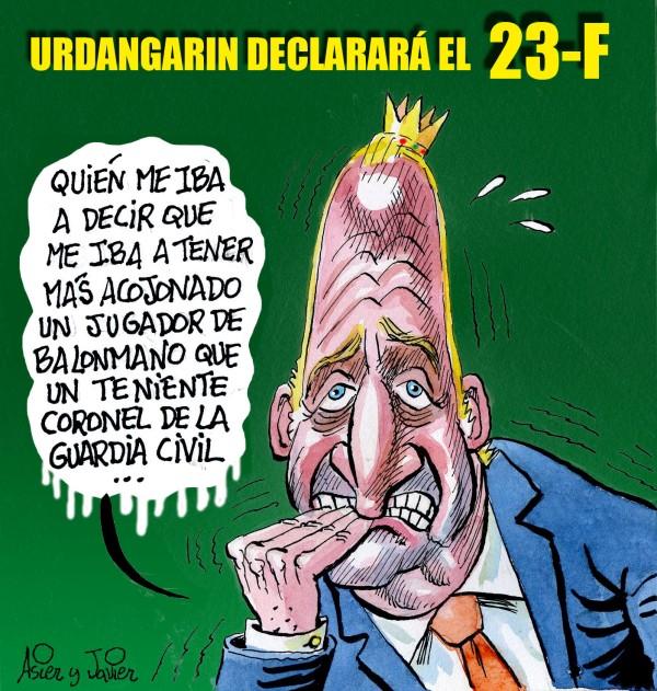 Urdangarin declarará el 23F, Juan Carlos I, Cristina, Borbón