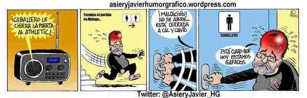 Athletic Bilbao de Bielsa se topó con Willy Caballero en Málaga (Humor Gráfico)