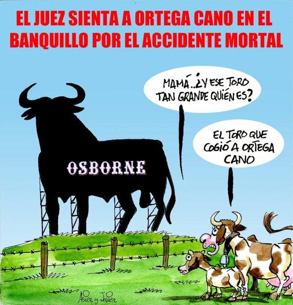 Ortega Cano, ante el juez por el atropello mortal. Humor gráfico.