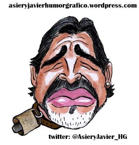 Maradona-Futbol-Caricatura-Cencerro-AsieryJavier