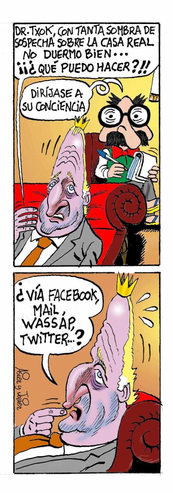 Rey, Juan Carlos, Borbón, Casa Real, Caricatura, Doctor Txok