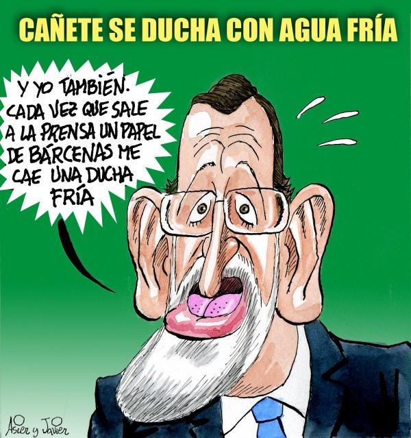 Rajoy y las duchas frías de Cañete, en El Jueves