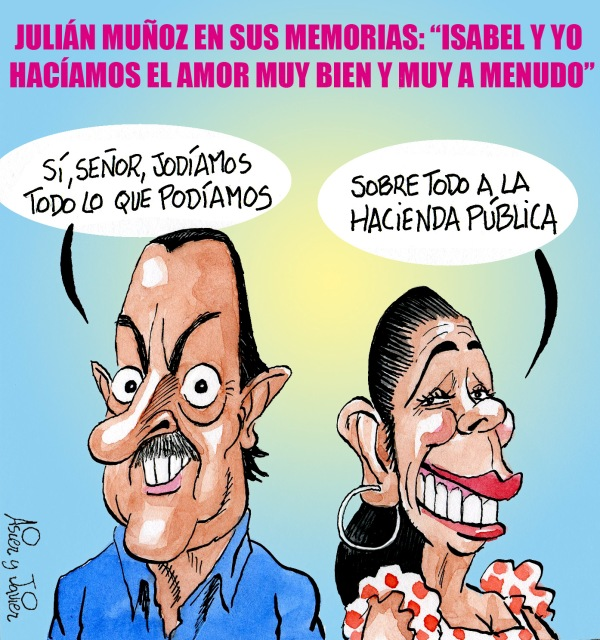 Julián Muñoz afirma en sus memorias que la Pantoja y él fueron un par de follarines