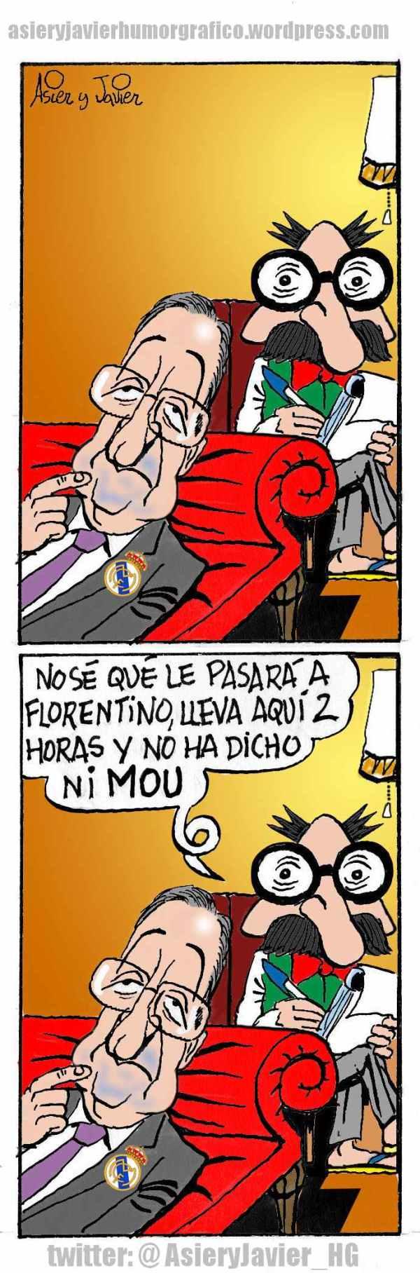 Florentino Pérez, en la consulta del doctor Txok