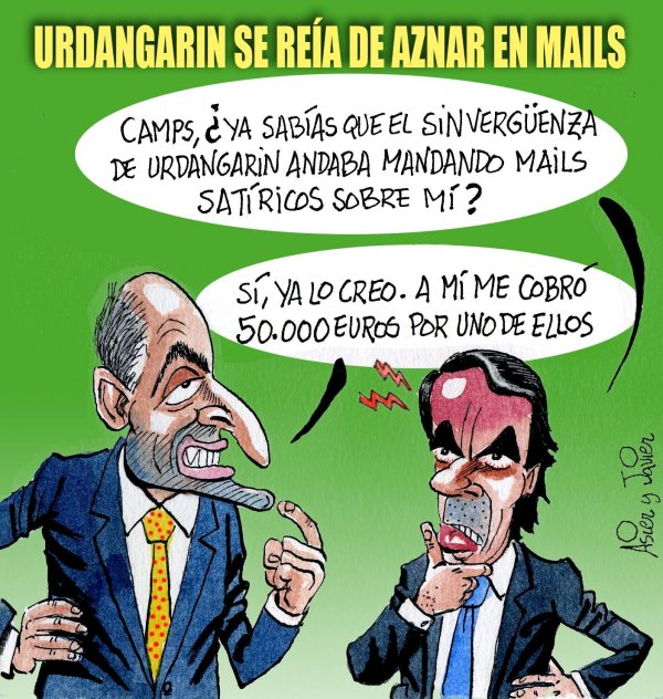 En El Jueves: Urdangarin mandaba mails satíricos de Aznar