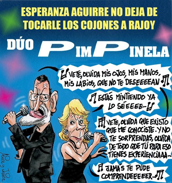 Rajoy y Esperanza, el Dúo PimPinela en El Jueves