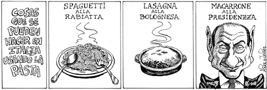 Berlusconi, maccarrone a la presidenza