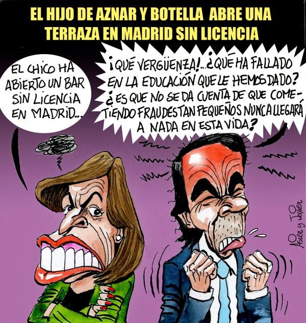 En El Jueves, el hijo de Aznar y Botella abre un bar sin licencia en Madrid