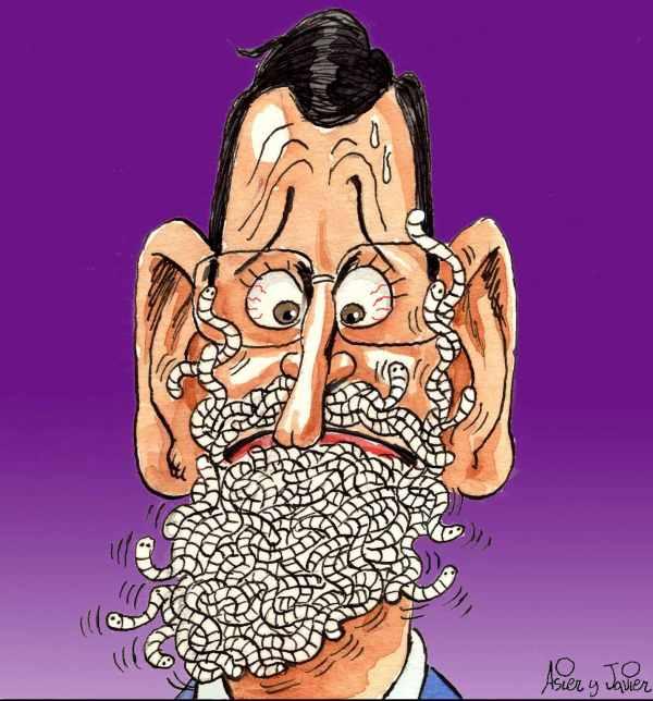 Retrato de Rajoy tras el Caso Bárcenas
