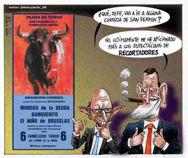 Los toros en San Fermín