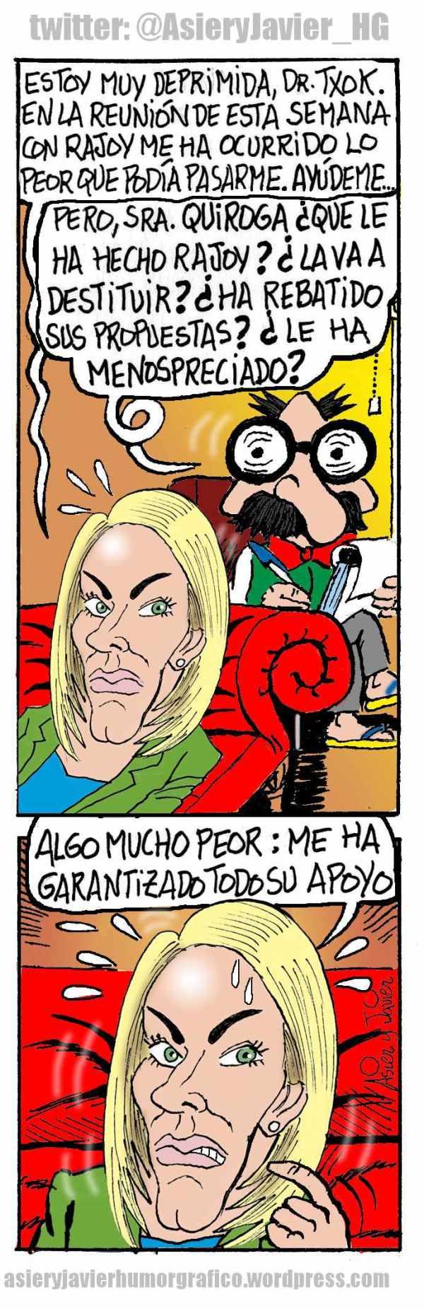 Arantza Quiroga, presidenta del PP del País Vasco, visita al doctor Txok