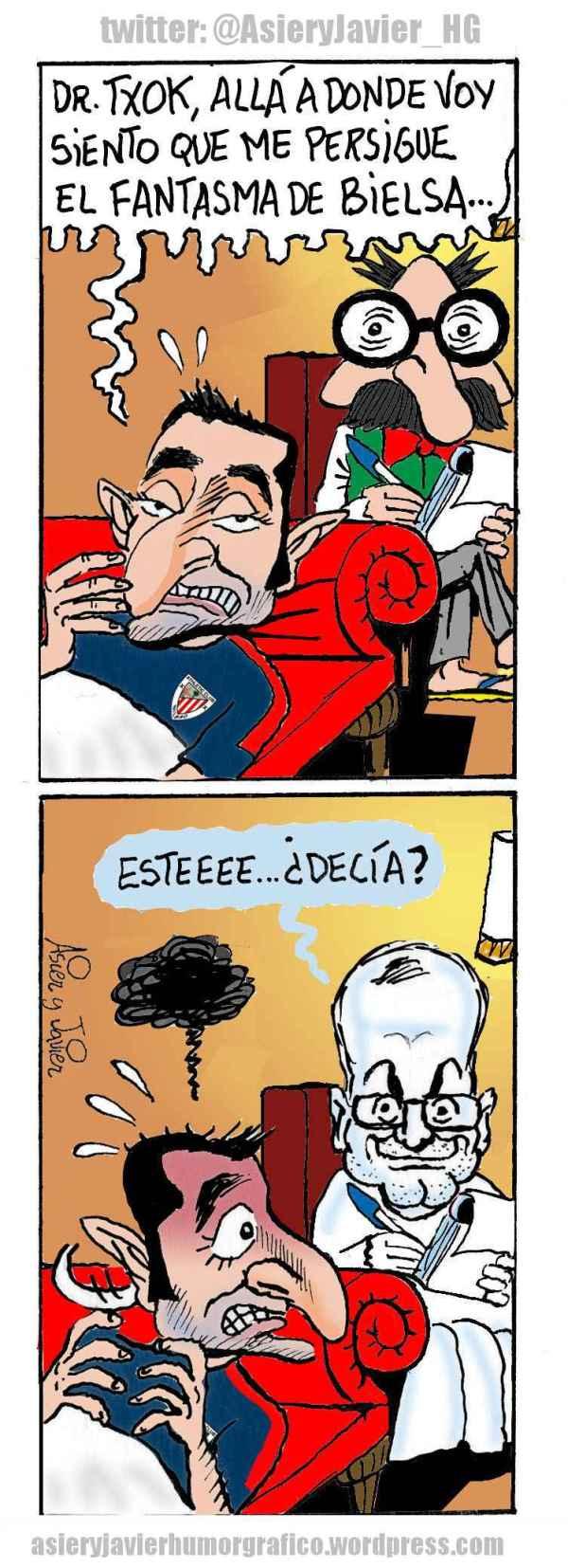 Ernesto Valverde, preocupado por el fantasma de Bielsa, en la consulta del doctor Txok