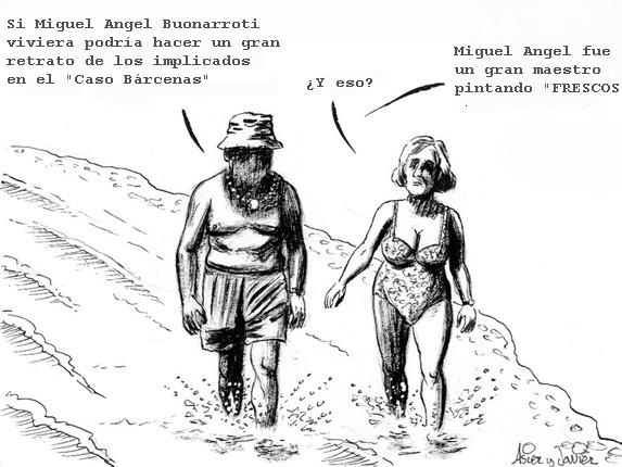 La pintura y el Caso Bárcenas, PP, Humor Gráfico, Asier y Javier.