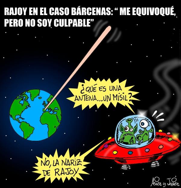 Hoy en El Jueves, Rajoy habló en el parlamento sobre Bárcenas