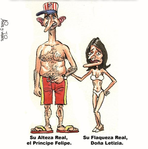 Felipe de Borbón  y Letizia también aprovechan agosto para ir a la playa