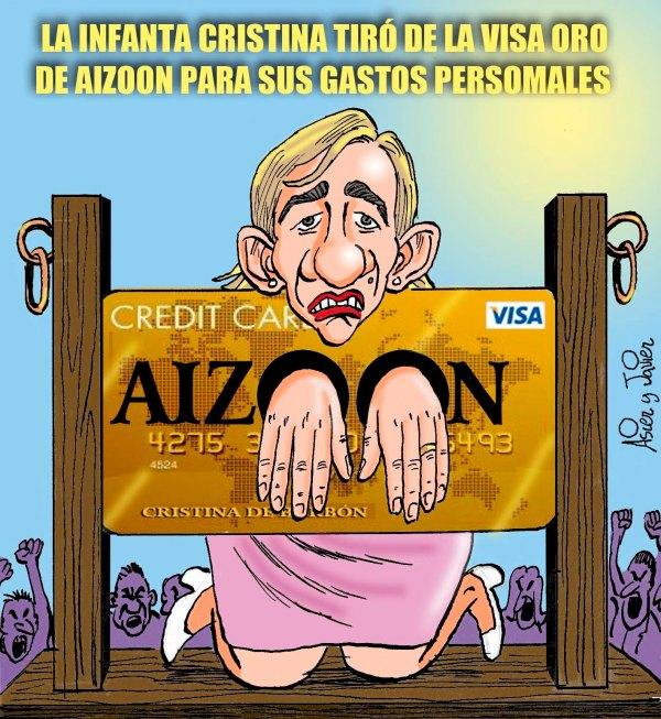 Cristina se pilla los dedos con la tarjeta de Aizoon