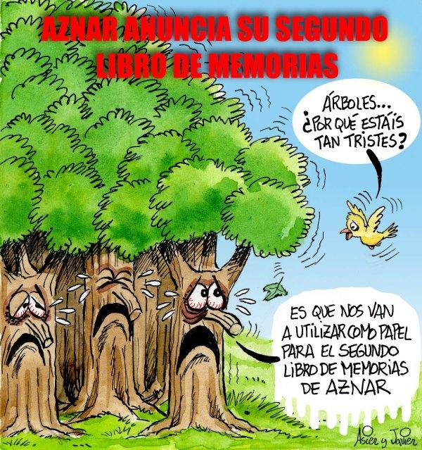Aznar amenaza con otro libro de memorias