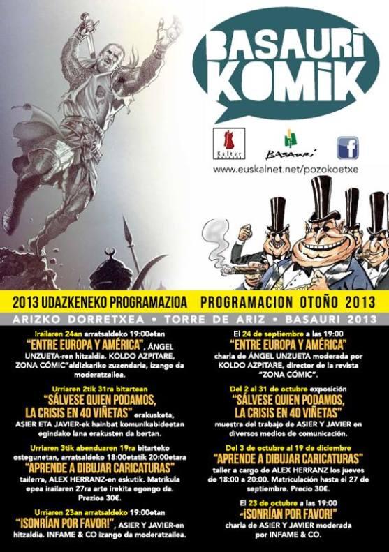 Cartel Basauri Komik 2013