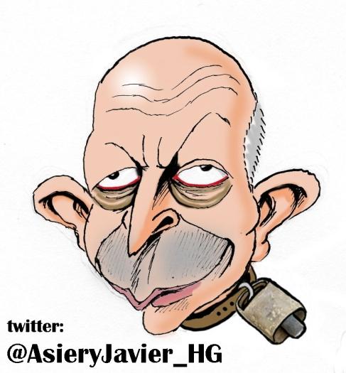 El Ministro Wert, Cencerro del Curso. Caricatura, Humor Gr