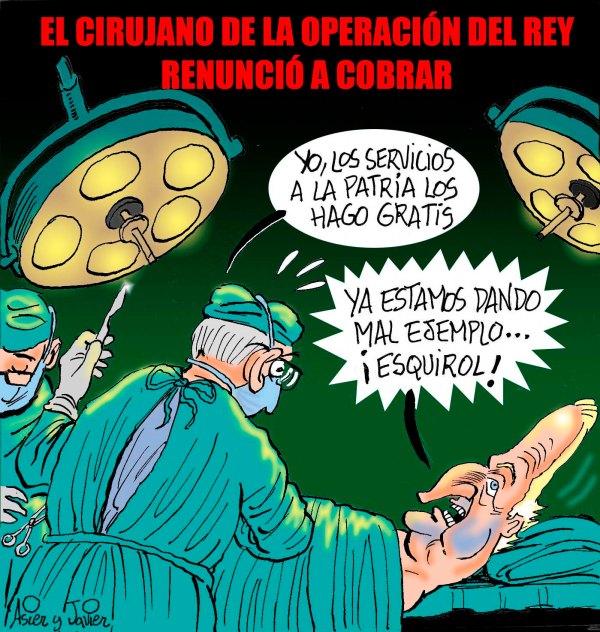 El cirujano de la cadera del Rey renuncia a cobrar, Borbón, Cadera, Humor Gráfico