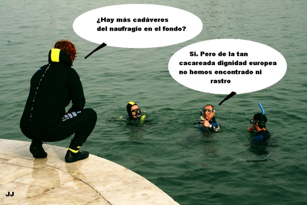Los submarinistas trabajan en Lampedusa