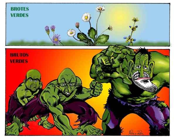 El Gobierno habla de brotes verdes en la economía española ¿Brotes verdes o Brutos verdes?