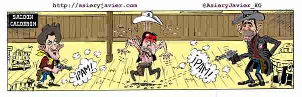 El Athletic de Bilbao bailó en el Calderón al ritmo que marcaron Costa y Villa. Fútbol, humor gráfico.