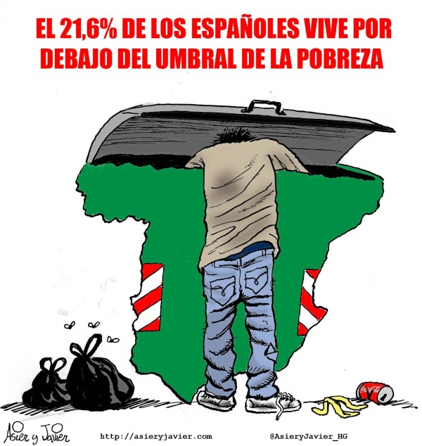 Uno de cada cinco españoles subsiste bajo el umbral de la pobreza