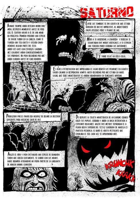 Saturno, cómic breve de Asier y Javier publicado en El Balanzin 9 del Salón del Cómic de Getxo