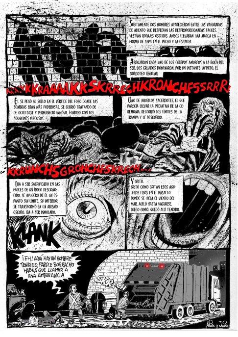 Saturno, cómic breve de Asier y Javier publicado en El Balanzin 9 del Salón del Cómic de Getxo. 2