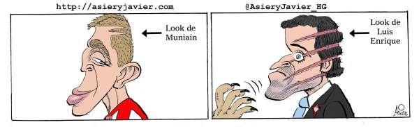 Muniain lidera los zarpazos del Athletic copero al Celta de Luis Enrique. Humor gráfico.