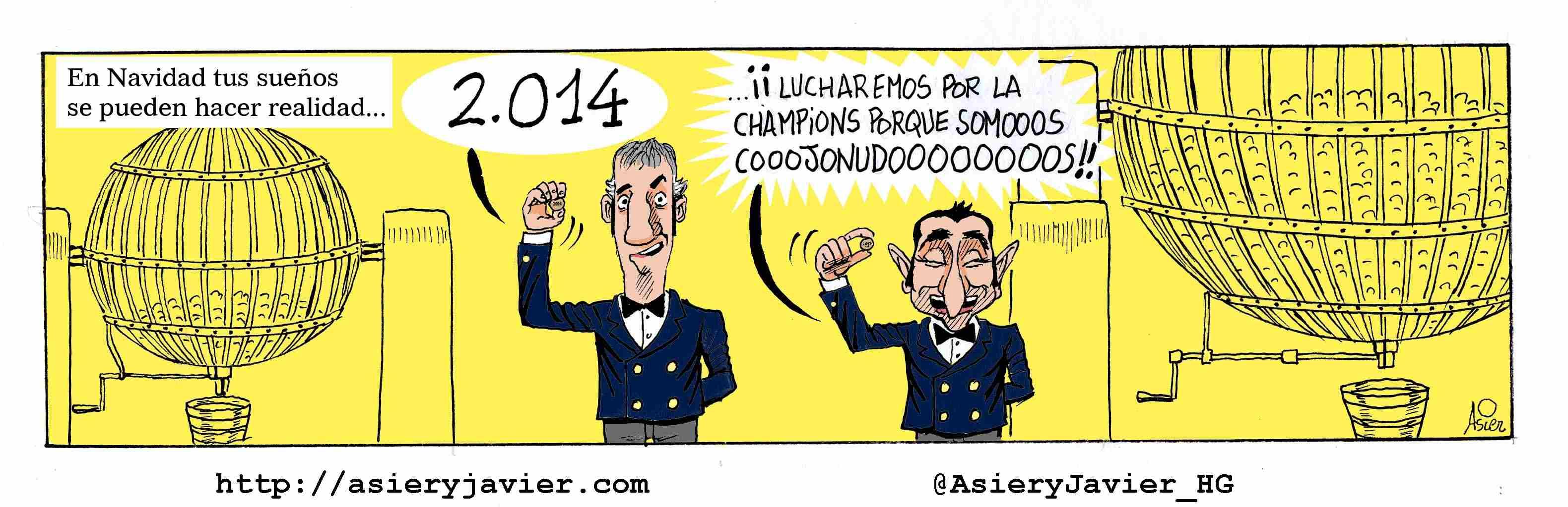 El Athletic también gana al Rayo en San Mamés y arrancará 2014 en zona Champions. Caricaturas, humor gráfico.