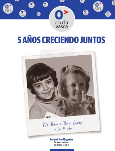 Kike Alonso e Itsaso Güemes, periodistas radiofónicos de Onda Vasca