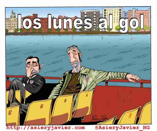 El Athletic vuelve a jugar en lunes en San Mamés. Caricaturas, humor gráfico.