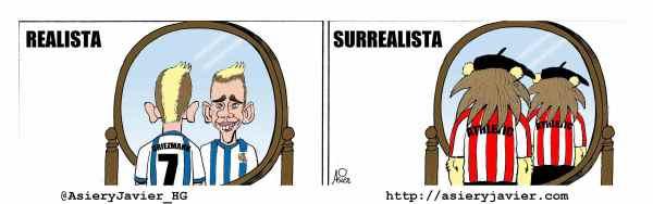 El realista Griezman se impuso al Athletic en un derbi surrealista en Anoeta. Humor.
