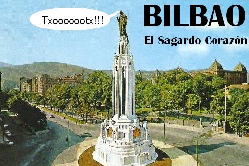 ¡Ha empezado la temporada de la sidra! Incluso en Bilbao, con el txotx del Sagardo Corazón. Humor.