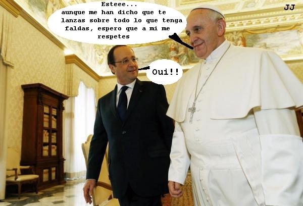 La conversación oculta de la visita de Hollande al Papa Francisco en el Vaticano