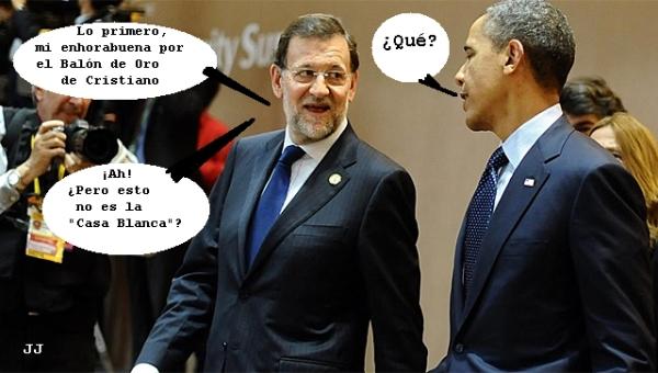 Exito de Rajoy en su visita oficial a la Casa Blanca. Humor.