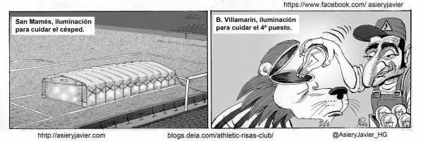 Valverde tiene que iluminar el juego del Athletic en el Villamarín. Humor, caricatura.