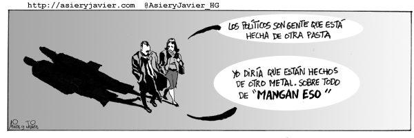 La corrupción en España preocupa a la Comisión Europea. Humor, viñeta.