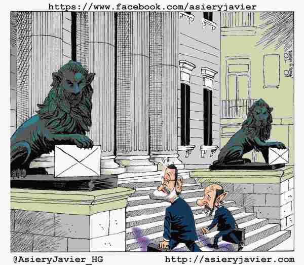 Los casos de corrupción flotan sobre el Debate del Estado de la Nación. Humor, caricaturas.