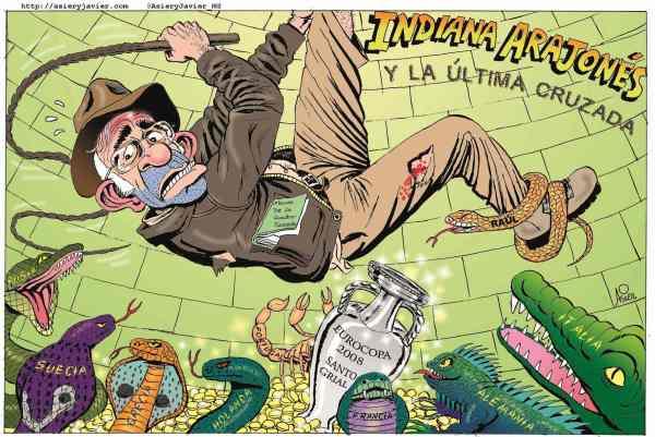 Luis Aragonés, un tipo especial. Viñeta, caricatura, humor gráfico.